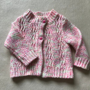 Gymboree Baby Girl Pink Sweater Cardigan Acrylic